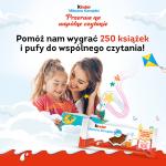 Konkurs Kinder Mleczna Kanapka książki dla bibliotek