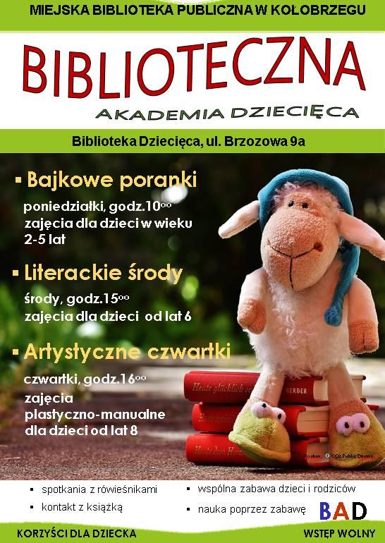 Biblioteczna Akademia Dziecięca plakat