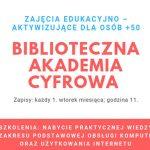 Biblioteczna Akademia Cyfrowa 50+